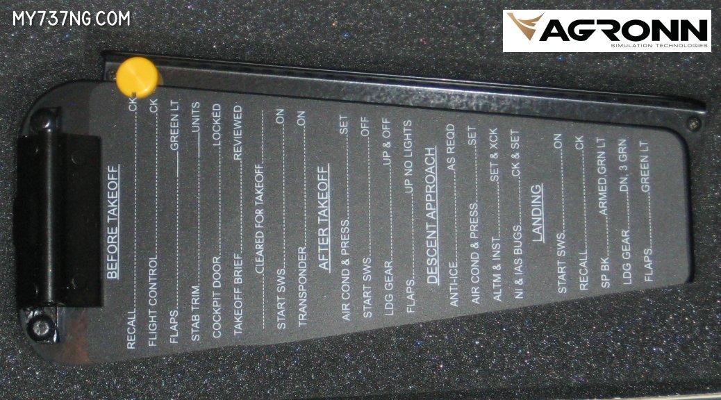 Agronn 737 Yoke Clipboard