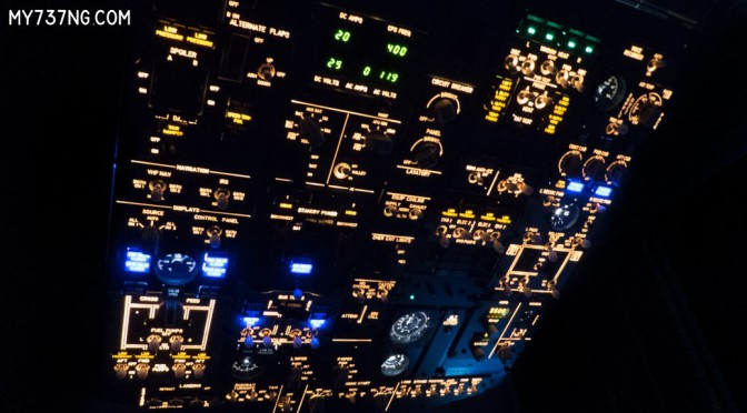 CPFlight FWD Overhead Panel with corrected backlighting color.